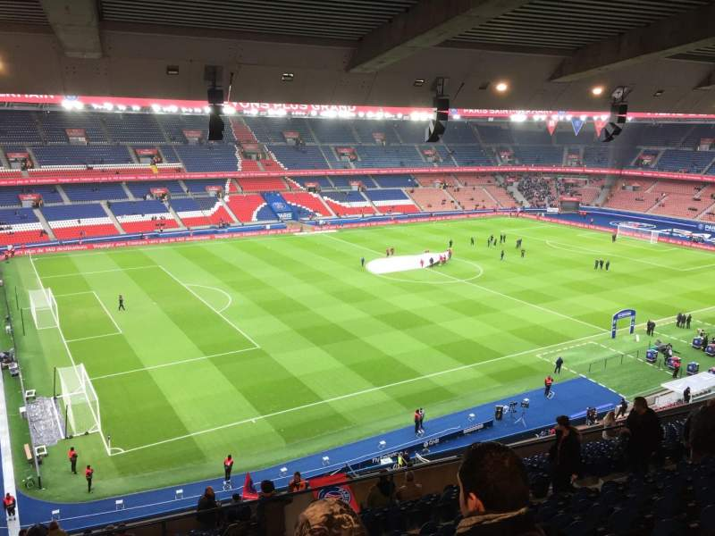 parc des princes section borelli 417 rang e k si ge 53 paris saint germain vs angers sco. Black Bedroom Furniture Sets. Home Design Ideas